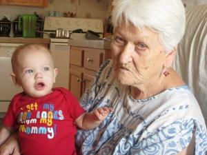 My grandmother & Landon